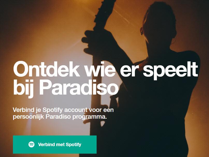 Geen concert meer missen: Koppel Spotify aan Paradiso